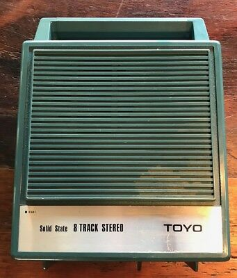 Vintage Made in Japan Toyo Solid State 8 Track Stereo & Speakers Model CH 313