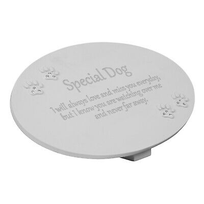 In Loving Memory Special Dog Memorial Grave Plaque Crystal Paw Prints Pet Sign