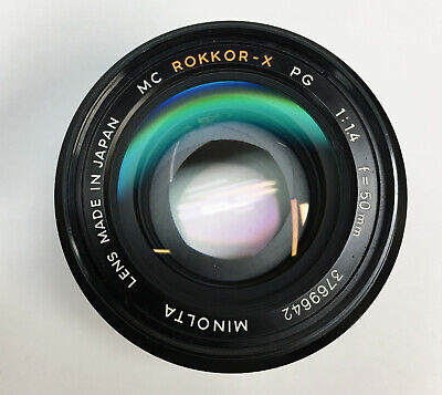Minolta MC Rokkor-X 50mm f/1.4 PG Lens Made In Japan - Excellent Condition!