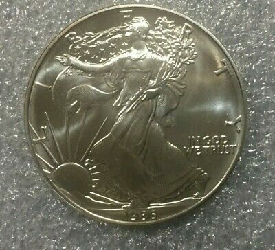 1986 American Silver Eagle ~~~ Stunning Condition w/ Toning- must see pics