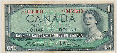 BANK OF CANADA REPLACEMENT 1 DOLLAR 1954 BC37bA *DO0469610 - VF