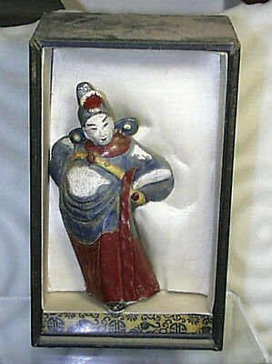Superior Ancient Chinese Terra Cotta Red Glazed Immortal Guardian In Box