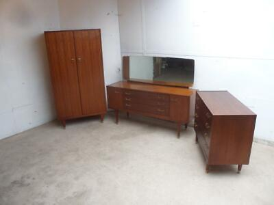 A Fantastic 1970s Vintage Retro G Plan Maple 3 Piece Bedroom Suite