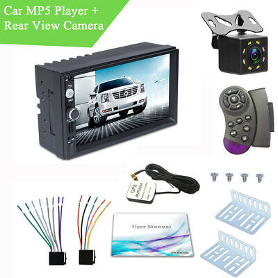 "7"" Touch Screen 2 Din Radio MP5 Player Android GPS + USB DAB + Rear View Camera"
