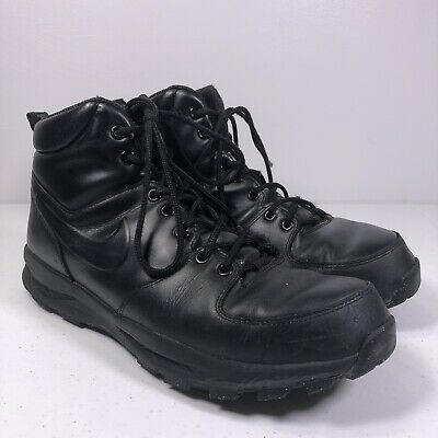 NIKE ACG MENS MANOA Black LEATHER BOOTS 454350-003 Size 11.5