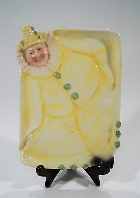 Royal Bayreuth 1902-1920 Yellow Smiling Clown Decorative Dresser Tray