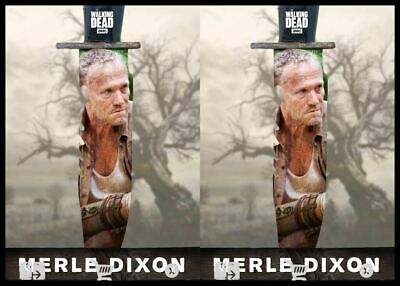 2x EDGE MARSH MERLE DIXON Topps WALKING DEAD DIGITAL Card Trader Marathon