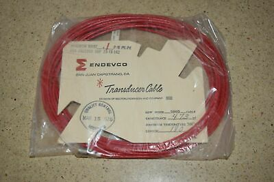 "ENDEVCO 3090B- 180"" - 473pF- - 500˚F ACCELEROMETER CABLE- NEW (#13)"