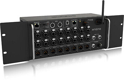 Midas MR18 18-Input Rackmount Digital Mixer for Tablets w/Wi-Fi and USB Recorder