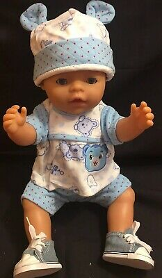 Boy Dolls Clothes Shorts Top Shoes Hat Nappy Fits Baby Born Brother Boy Doll 16""