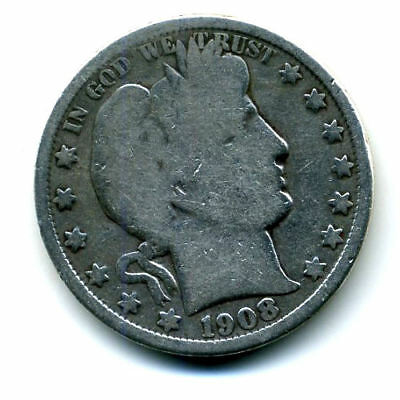 1908 O Barber Half Dollar Key Date Silver 50 Cent HALFDOLLAR Coin US 50CENT#4073