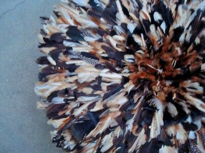 "32"" Exotic-Multi-color   / African Feather Headdress / JuJu Hat / 1st. Quality"
