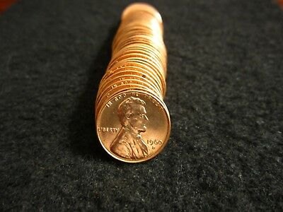 1960-D Small Date GEM BU Roll Lincoln Cents (50 Coins) #12