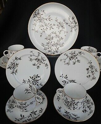 Antique Crown Derby ' Hawthorne ' Pattern Tea Set ~ Quality China Table Ware