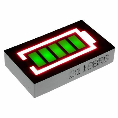Battery Shape Level Indicator LED Display Large 5 segment Green/Red Bargraph