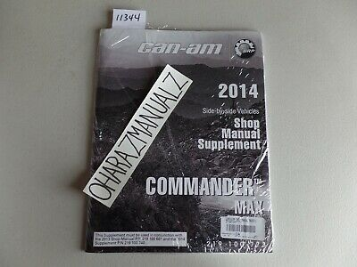 2014 CAN-AM Commander MAX Service Manual Supplement OEM *SEALED*