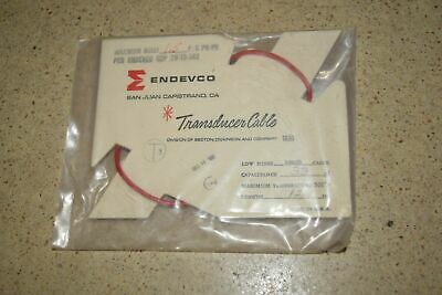 "ENDEVCO 3090B- 12"" - 33pF- - 500?F ACCELEROMETER CABLE- NEW (#34)"