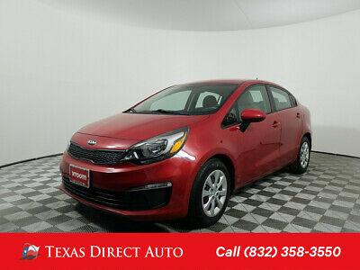 2017 KIA Rio LX Texas Direct Auto 2017 LX Used 1.6L I4 16V Manual FWD Sedan