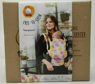 """TULA FREE-TO-GROW /""""HAMPTONS/"""" ERGONOMIC BABY CARRIER Quick And Easy Adjustable"""