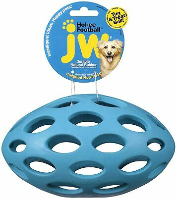 JW Pet SPHERICON Football Shaped Chew and Treat Fetch Dog Toy LARGE 8 inch