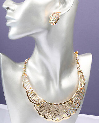 Gold Tone Open Necklace