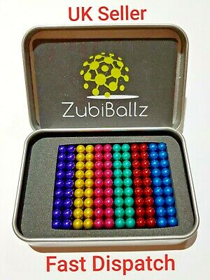 216 pcs 5mm Rainbow Mini Colour metal ball puzzle cube toy sphere bead blocks