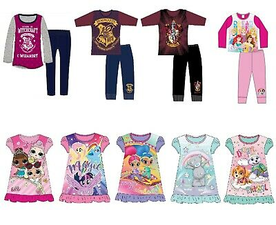 Girls Official Licensed Character Pyjamas Nightie Girls Pjs Age 18 Mths to 10Yrs