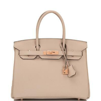 40f9ed63cdbf NEW - HERMES BIRKIN 35 Gris Etain (Gray Tin) Togo Gold Hardware NEW ...