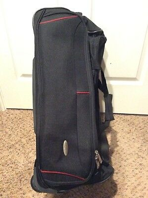 "SAMSONITE 24"" Wheeled Duffel Bag Black EUC"