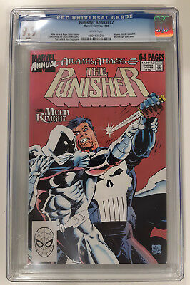 Punisher Annual 2  CGC 9.9 MINT - RARE (only 1) HIGHEST GRADED Moon Knight - HOT