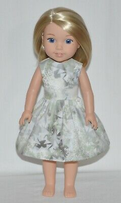 """Abstract Print Doll Dress Clothes Fits American Girl 14.5"""" Wellie Wisher Dolls"""