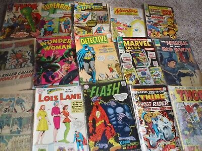 Rare Vintage 1964-1967 Comic Books,Superman,Batman,Spiderman,Thor And More