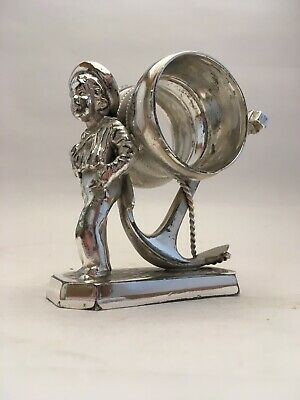 Silverplate Napkin Ring Sailor Boy And Anchor Simpson Hall Miller