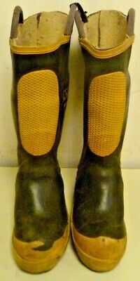Ranger FireWalker Firefighter Turnout Gear Rubber Boots Steel Toe Size 4 R261