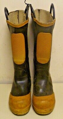 Ranger Shoe-Fit Firefighter Turnout Gear Rubber Boots Steel Toe Size 6.5 R259