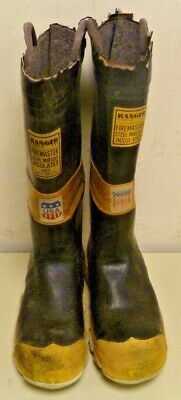 Ranger FireMaster Firefighter Turnout Gear Rubber Boots Steel Toe Size 7 R251