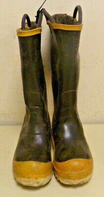 Ranger FireWalker Firefighter Turnout Gear Rubber Boots Steel Toe Size 5 R264