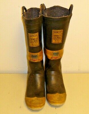 Ranger FireMaster Firefighter Turnout Gear Rubber Boots Steel Toe Size 6 R213