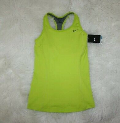 Nike DriFit Womens Green Racer Back Activewear Training Tank Top Size Small S