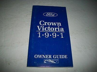 1991 Ford Crown Victoria Owner Guide Manual Clean