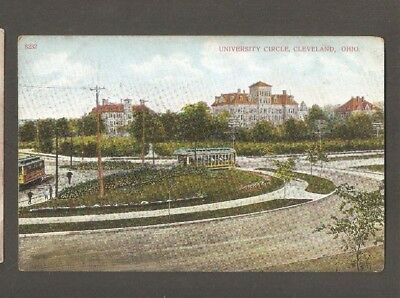 Vtg Postcard University Circle Cleveland Ohio OH O early