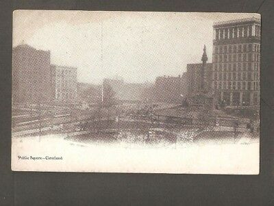 Vtg Postcard Public Square Cleveland Ohio OH O Undivided back Early
