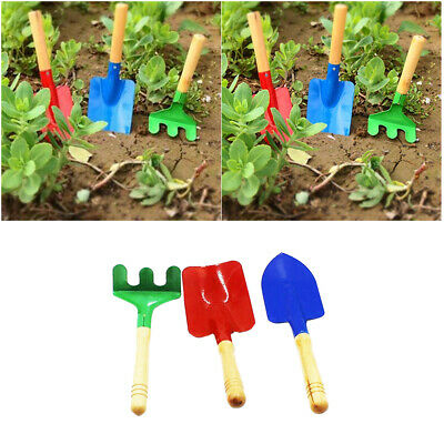 Garden Hand Tools Tools Aggressive High Quality 3pcs Mini Shovel Rake Garden Plant Tool Set Children Small Harrow Spade Shovel Gardening Tools Planting Tool Customers First