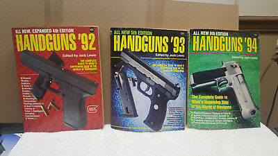 "HANDGUNS SOFTCOVER BOOK 92' ~ 93"" ~ 94"" by JACK LEWIS  1992-93-94"