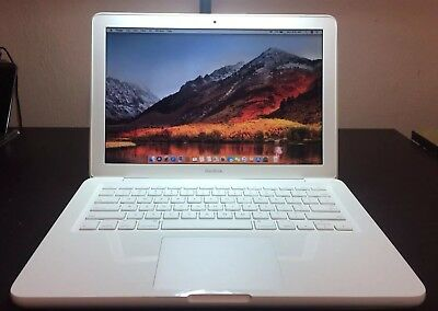 "Apple MacBook White 13""  New 250GB HDD 2.26 GHz 4GB RAM Os High Sierra"