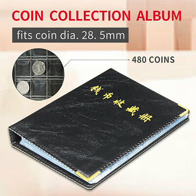 480 Coin Album Collection Book Holder Collectors Money Penny Cases Pockets  !