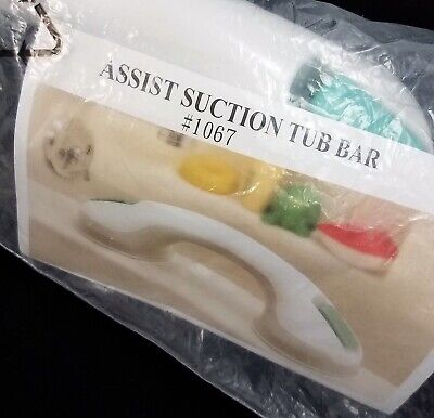 Assist Suction Tub Shower Bar Bathroom Safety Balance Grip Handle White NEW