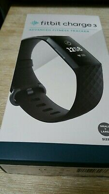 Fitbit Charge 3 Black Unopened New