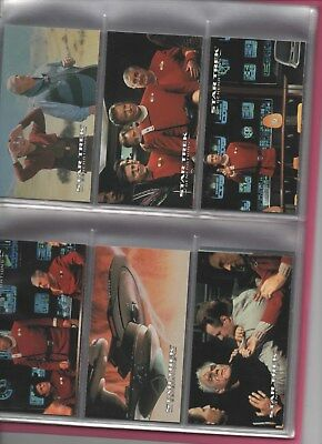 STAR TREK Generations Movie Complete main set in six card pages XL size cards