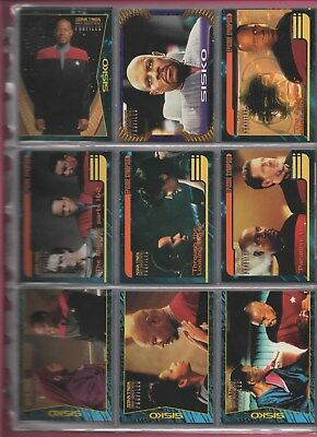 STAR TREK Deep Space Nine Profiles of Charcters complete set in nine card pages